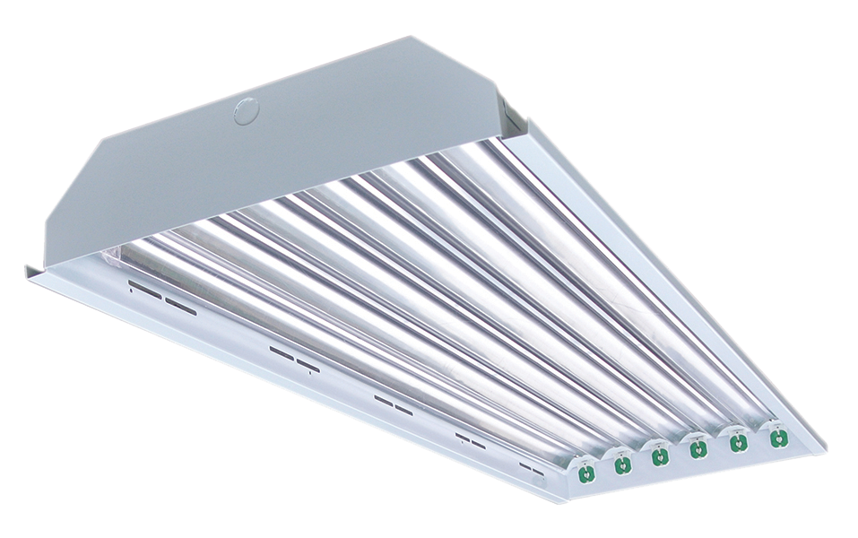 4' Linear 6-lamp T8 Type B Power Either End High Bay Fixture Body